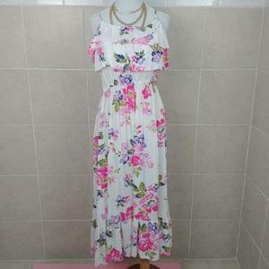 Cherokee Floral Maxi Dress Size 14/16